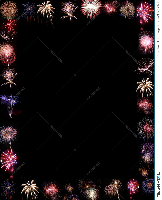 fireworks display border or background