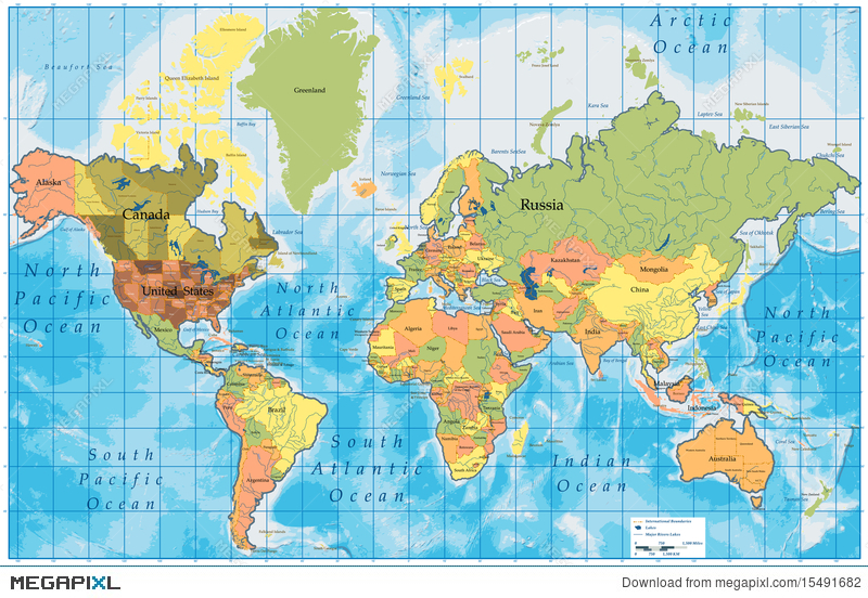 Detailed world map with all names of countries illustration 15491682 detailed world map with all names of countries gumiabroncs Image collections