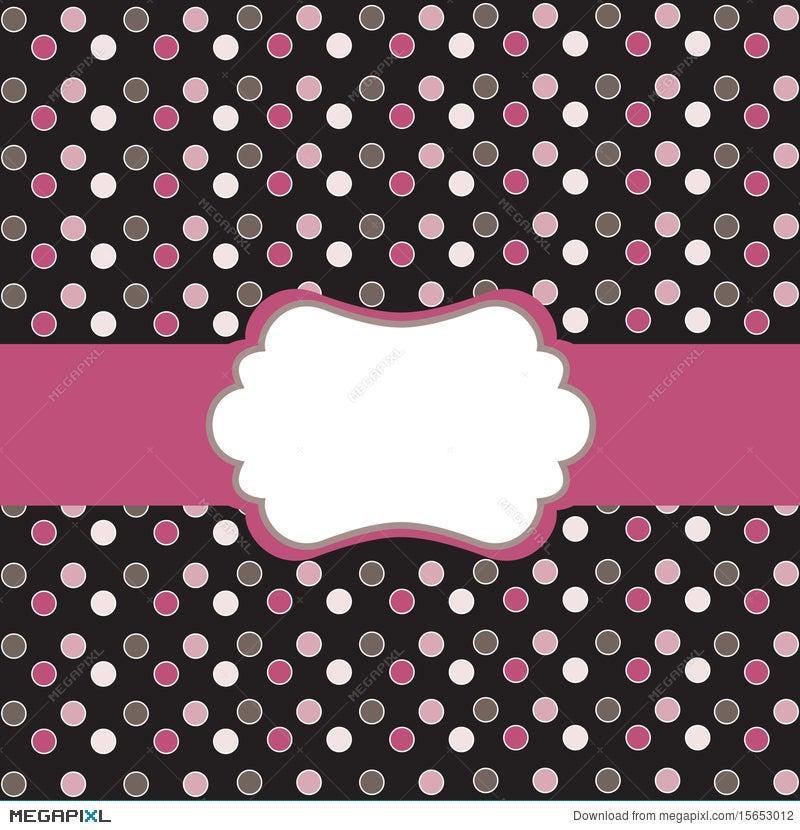 Polka Dot Frame Illustration 15653012 - Megapixl