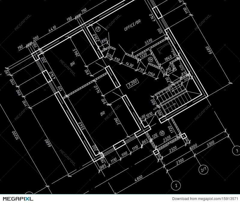 Cad architectural plan drawing blueprint illustration 15913571 cad architectural plan drawing blueprint malvernweather Choice Image