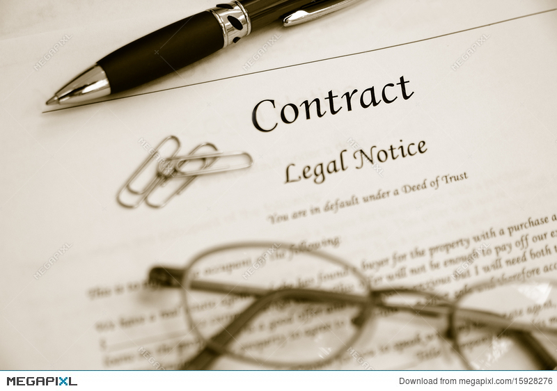 Legal Contract Stock Photo   Megapixl