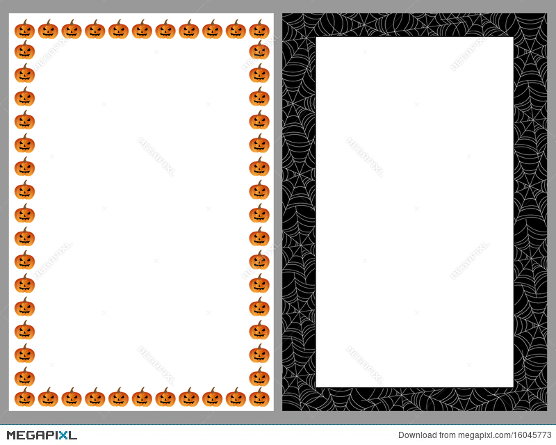 Halloween Borders Frames Illustration 16045773 - Megapixl