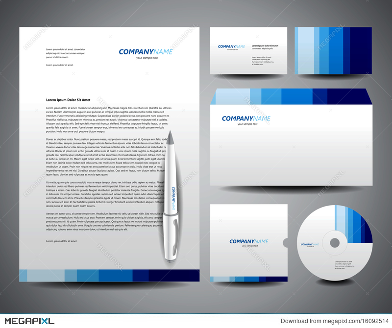 Business stationery template blue illustration 16092514 megapixl business stationery template blue fbccfo Images