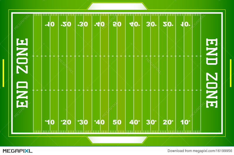 nfl football field eps illustration 16199956 megapixl rh megapixl com american football field layout american football field dimensions in meters