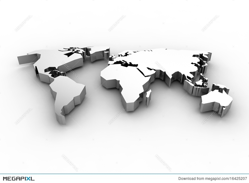 World map 3d render illustration 16425207 megapixl royalty free gumiabroncs Gallery