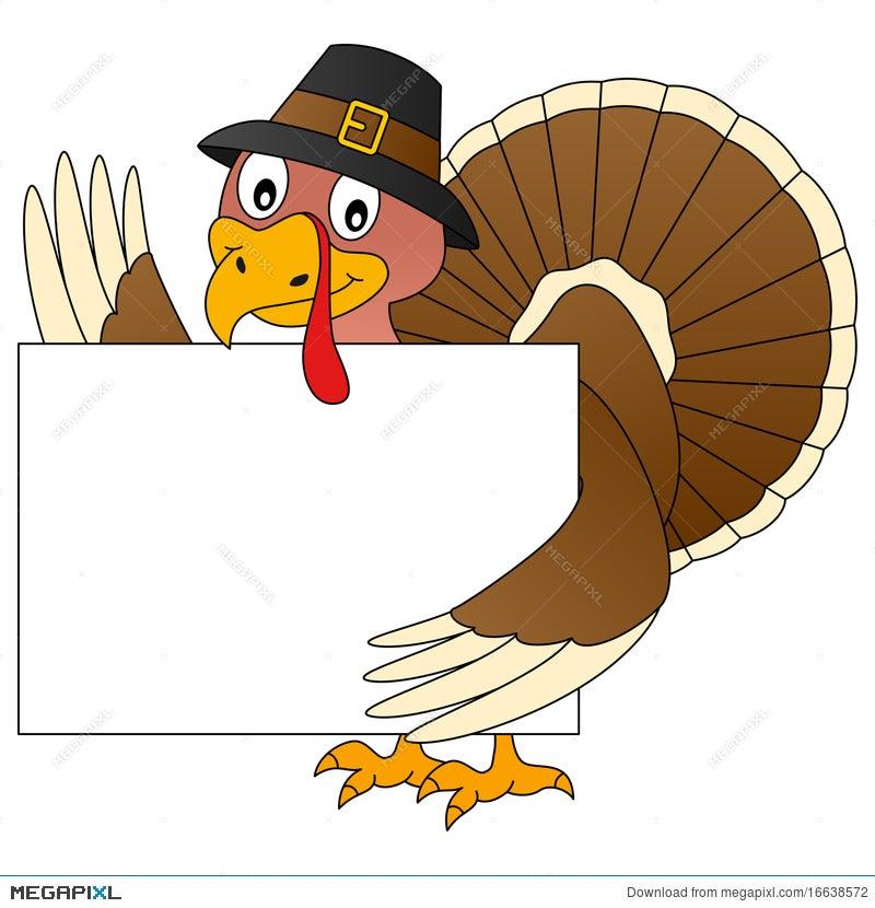 Thanksgiving Turkey And Banner Illustration 16638572 Megapixl