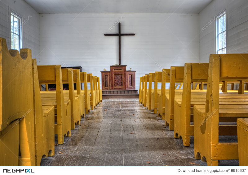 Country Church Interior Stock Photo 16819637