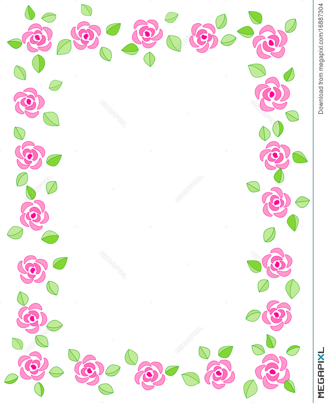 Rose Border / Wedding Invitation Illustration 16887304 - Megapixl