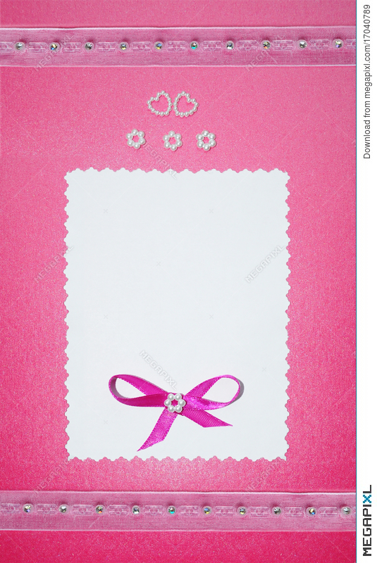Wedding Paper Card Or Photo Frame Border Stock Photo 17040789 - Megapixl