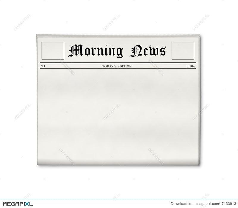 Newspaper Blank Template Illustration 17133913 Megapixl