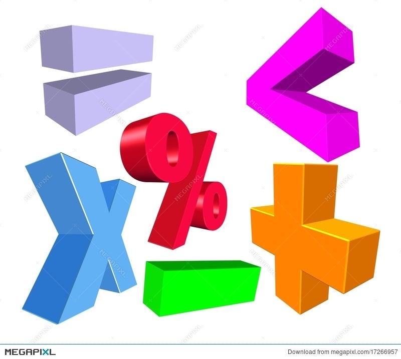 3d Math Symbols Illustration 17266957 Megapixl