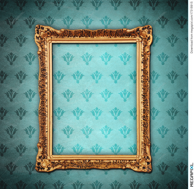 Golden Frame Over Grunge Wallpaper Stock Photo 17318915 Megapixl