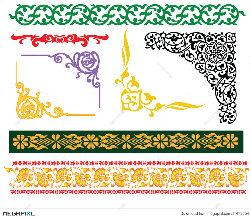 Malay islamic borders ornament illustration 17479854 megapixl malay islamic borders ornament thecheapjerseys Images