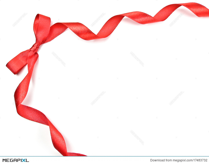 Red Ribbon Frame With Bow Stock Photo 17483732 - Megapixl