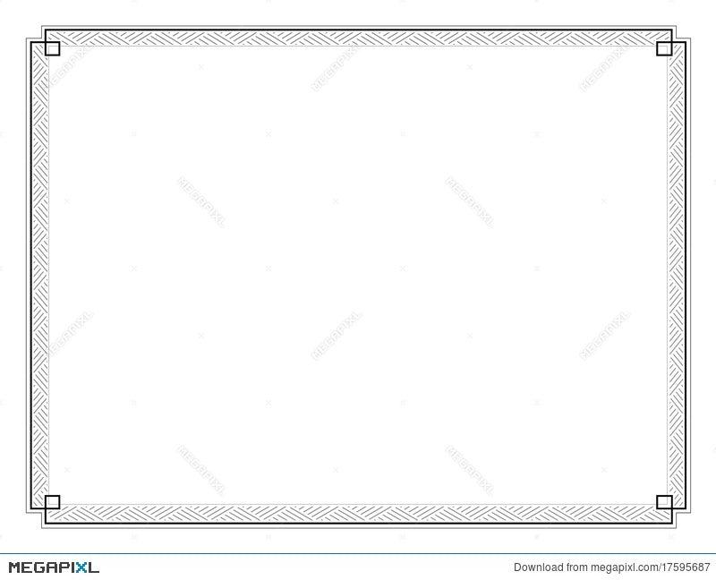 certificate border letter sized 020 illustration 17595687 megapixl