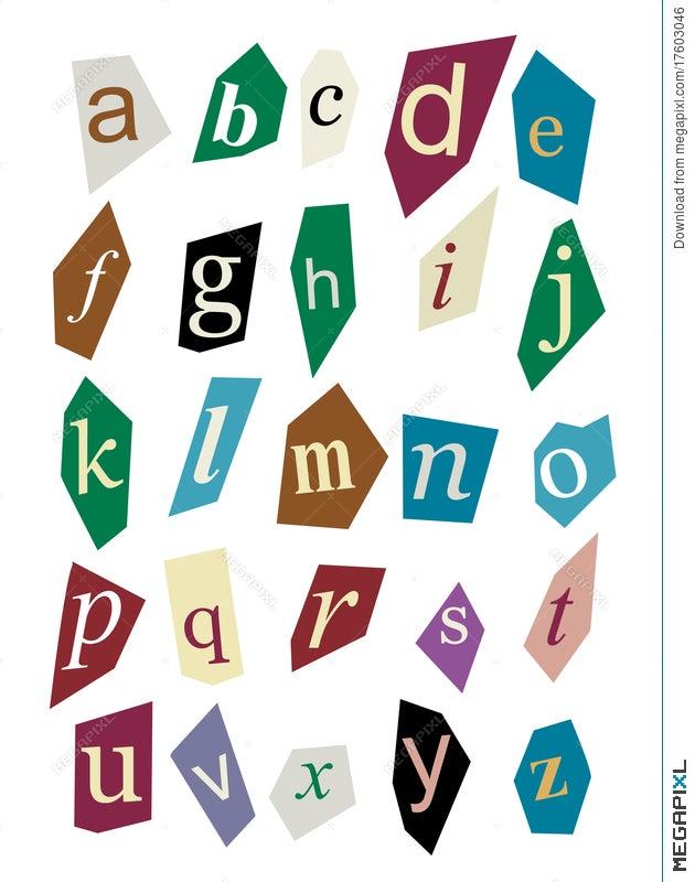Newspaper cutout letters illustration 17603046 megapixl newspaper cutout letters spiritdancerdesigns Gallery
