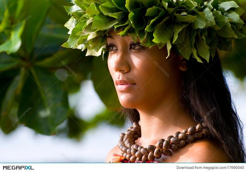 Beautiful Polynesian Woman Stock Photo 17690040 Megapixl