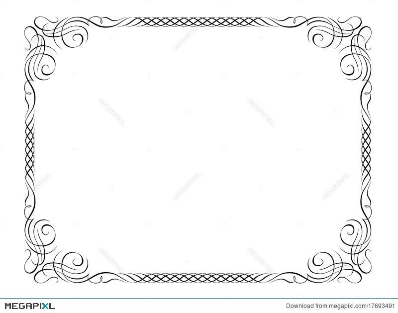 Penmanship Decorative Frame Illustration 17693491 - Megapixl