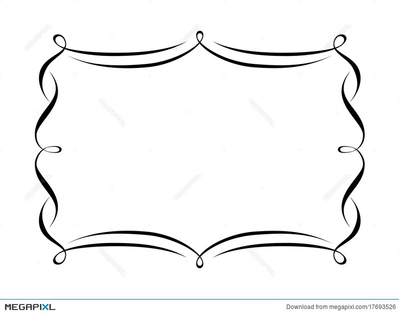 Penmanship Decorative Frame Illustration 17693526 - Megapixl