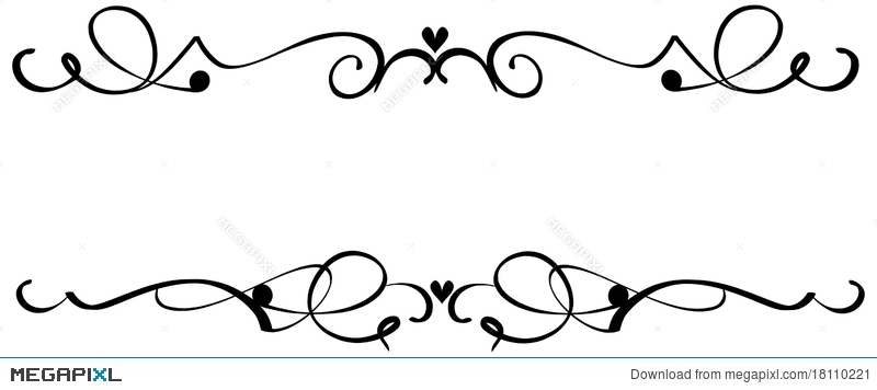 scroll heart ornaments illustration 18110221 megapixl