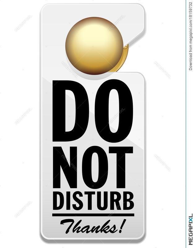 do not disturb sign illustration 18159732 megapixl
