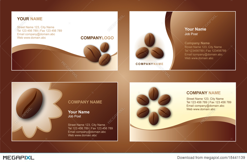 Coffee business card template illustration 18441139 megapixl coffee business card template accmission Images