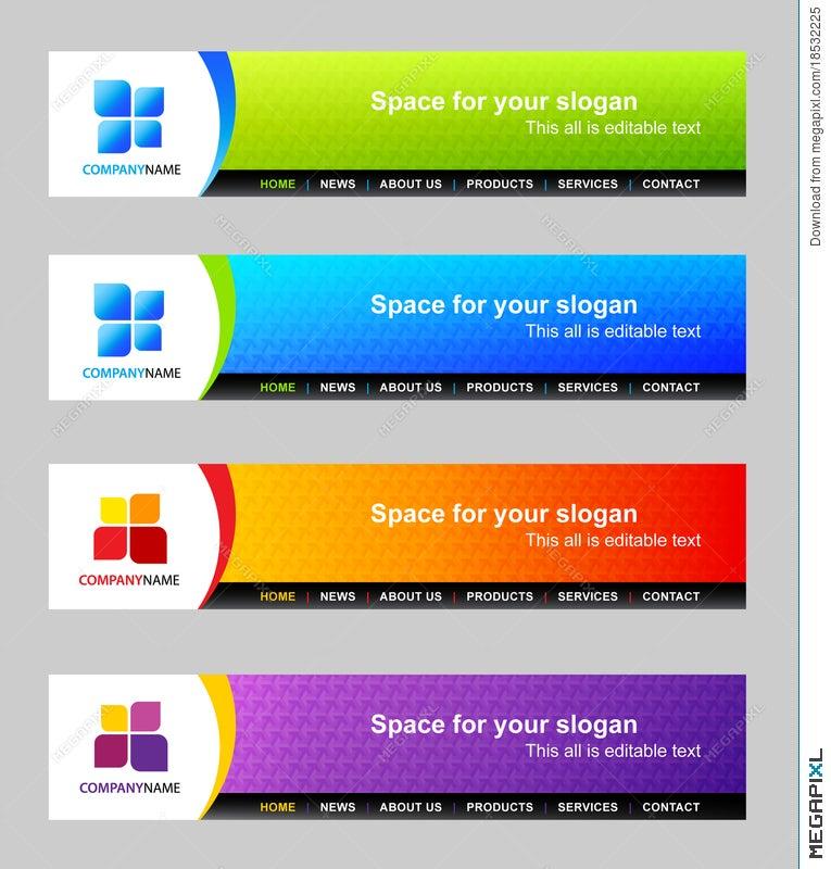 website header template illustration 18532225 megapixl