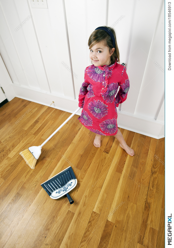 Agree with Young girl cleaning house