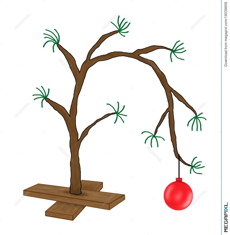 Funny Charlie Brown Christmas Tree Cartoon - Funny Charlie Brown Christmas Tree Cartoon Illustration 19039656