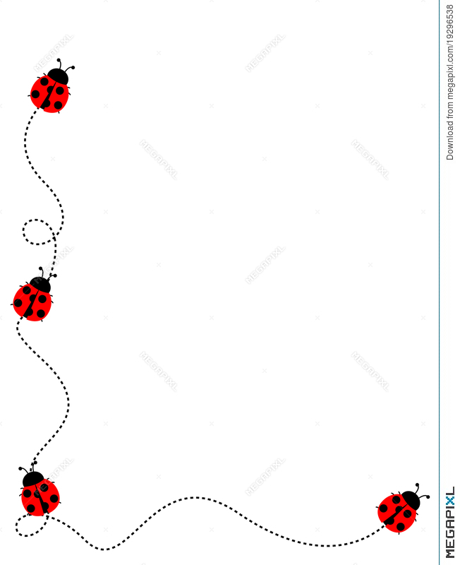 Ladybug Frame Border Illustration 19296538 - Megapixl