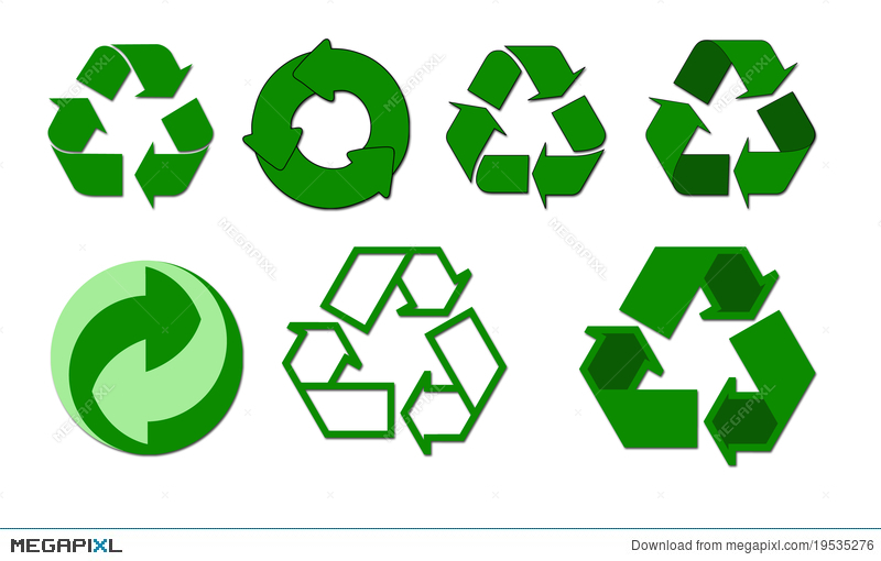 Recycle Symbols Illustration 19535276 Megapixl