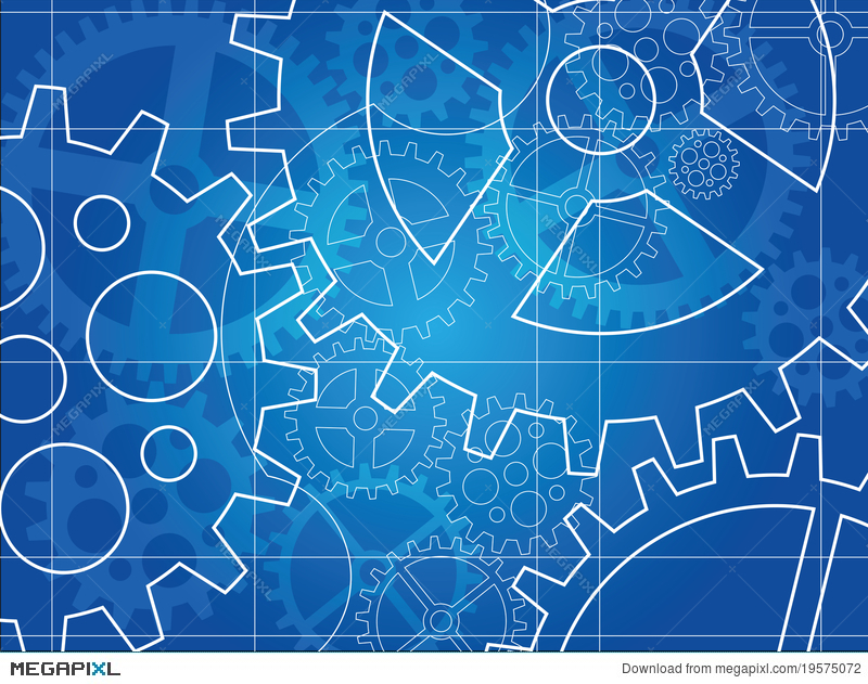 Gear blueprint abstract design illustration 19575072 megapixl gear blueprint abstract design malvernweather Images