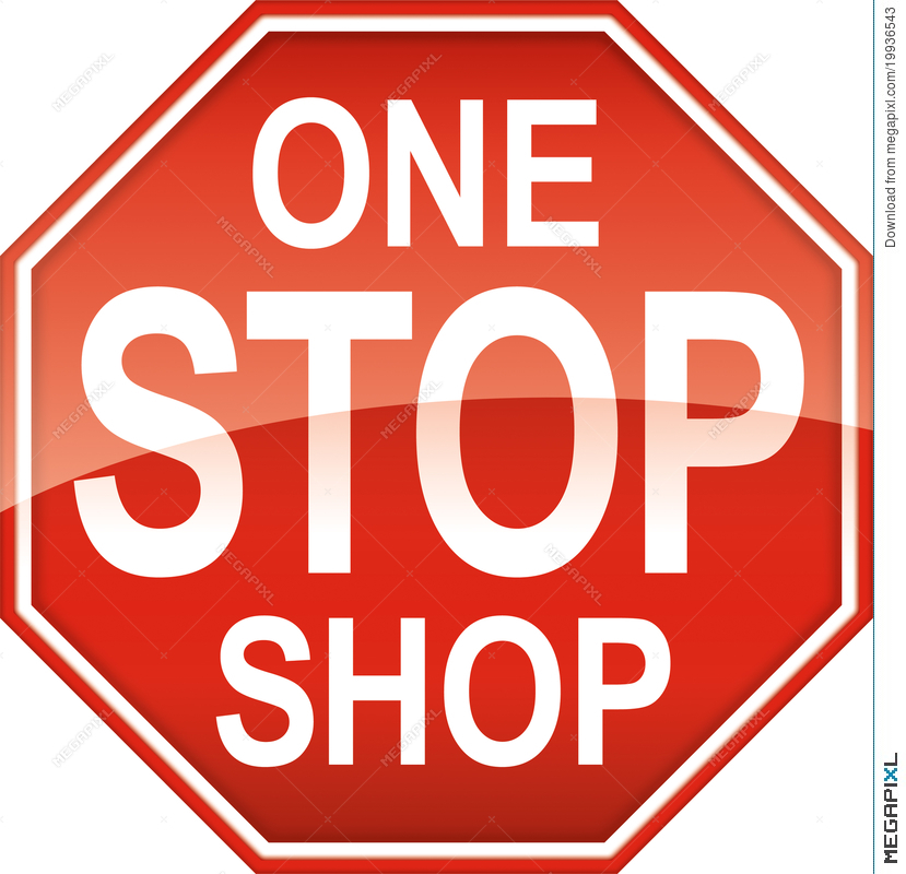 One Stop Shop Sign Symbol Illustration 19936543 Megapixl
