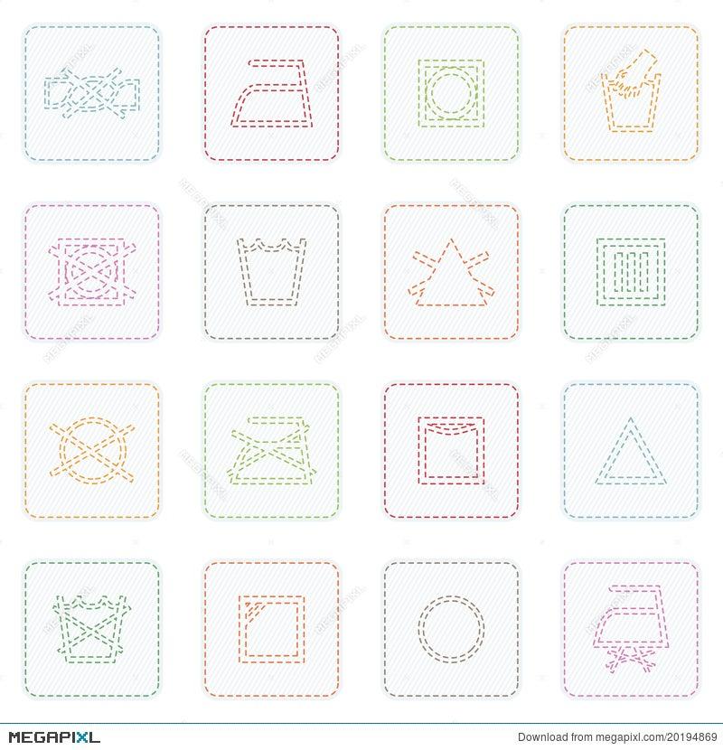 Fabric Care Symbols Illustration 20194869 Megapixl