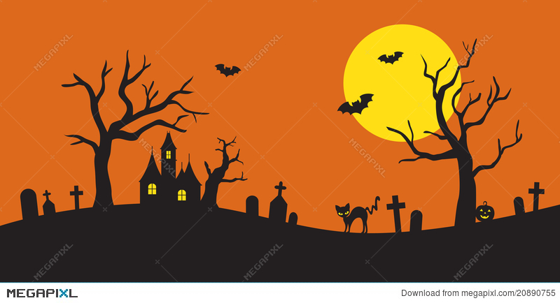 Halloween Silhouette Illustration 20890755 - Megapixl