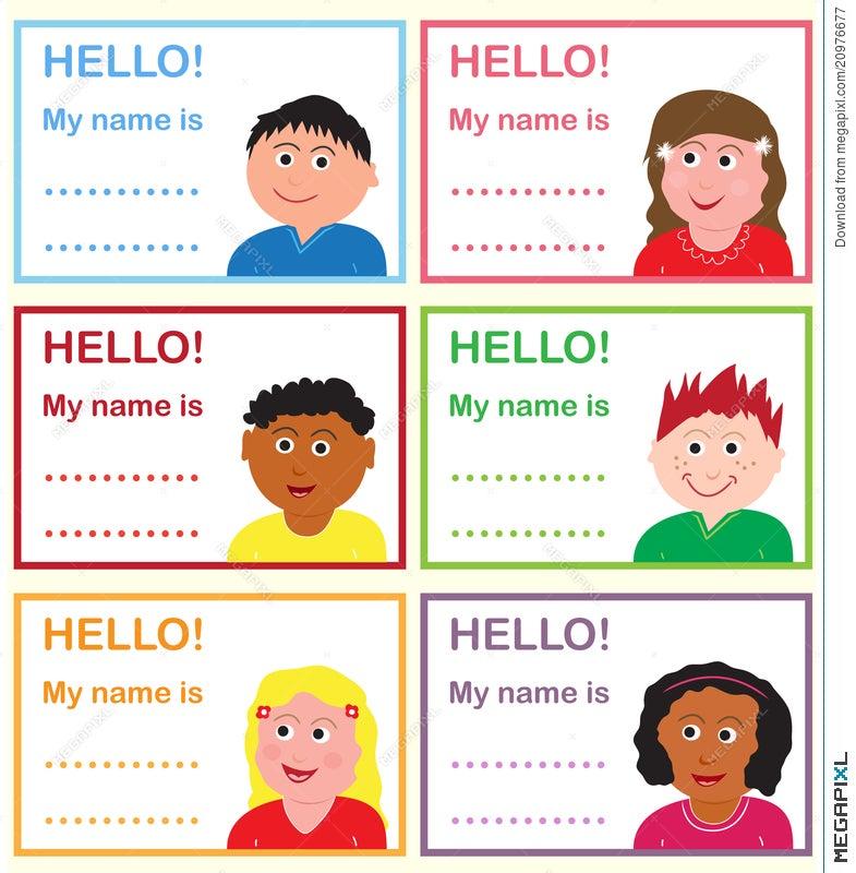 name tags for kids illustration 20976677 megapixl