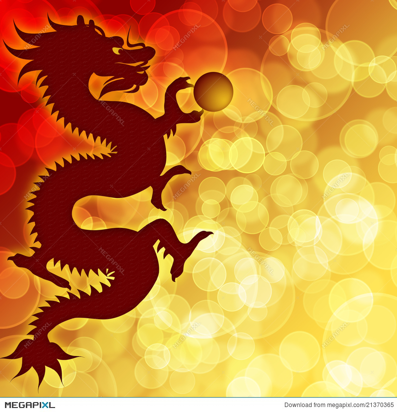 happy chinese new year dragon blurred background