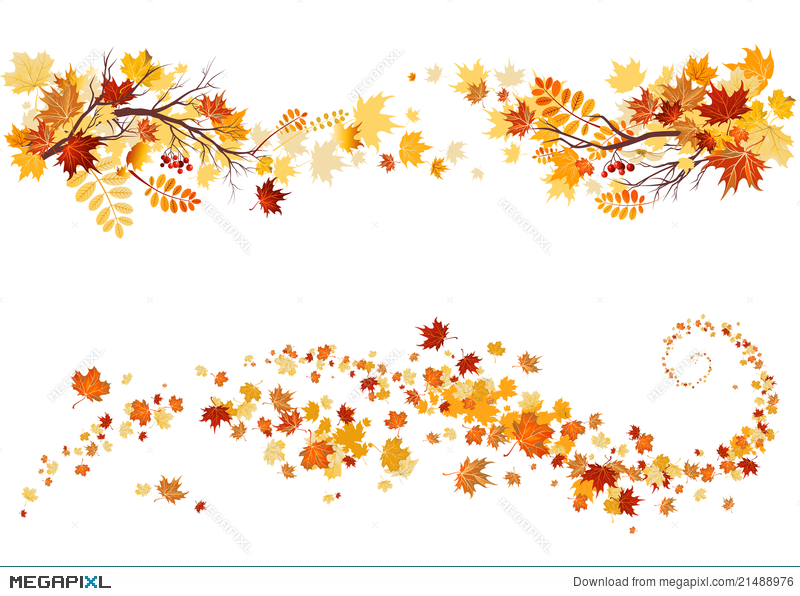 autumn leaves border illustration 21488976 megapixl