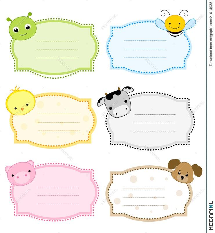 Animal Label / Frame Illustration 21614938 - Megapixl
