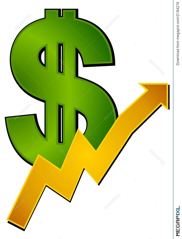 Dollar Sign Clipart Profits Up Illustration 2184274 Megapixl