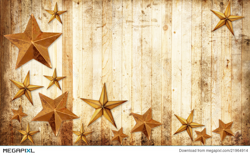 Country Christmas Stars Stock Photo 21964914