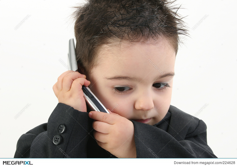 5cad88b2a Adorable Baby Boy In Suit On Cellphone Stock Photo 224628 - Megapixl