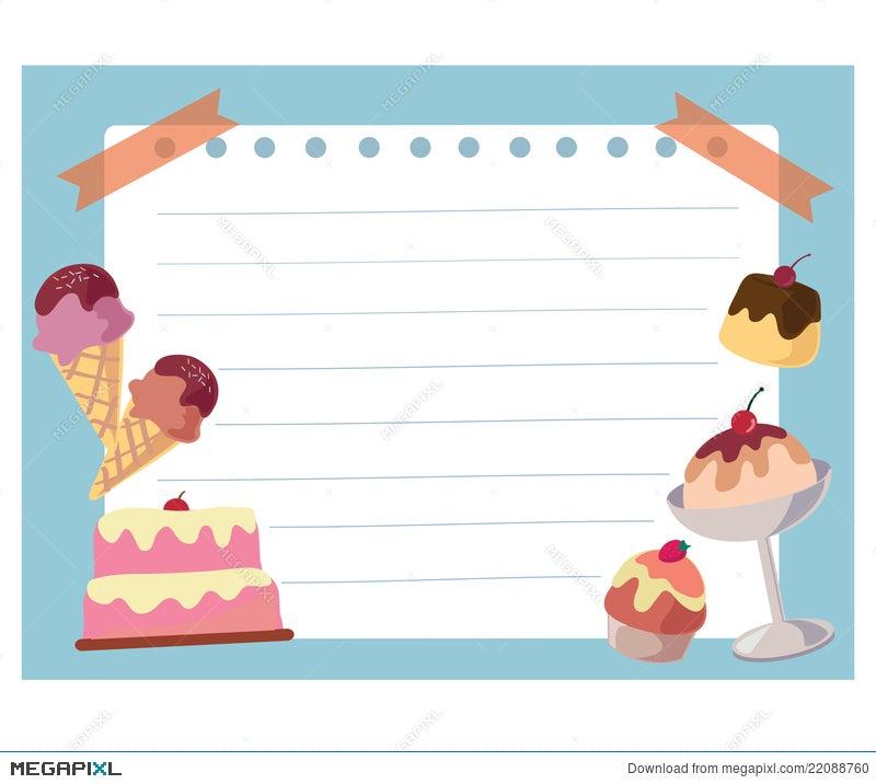 Cake And Ice Cream Frame Background Illustration 22088760 - Megapixl