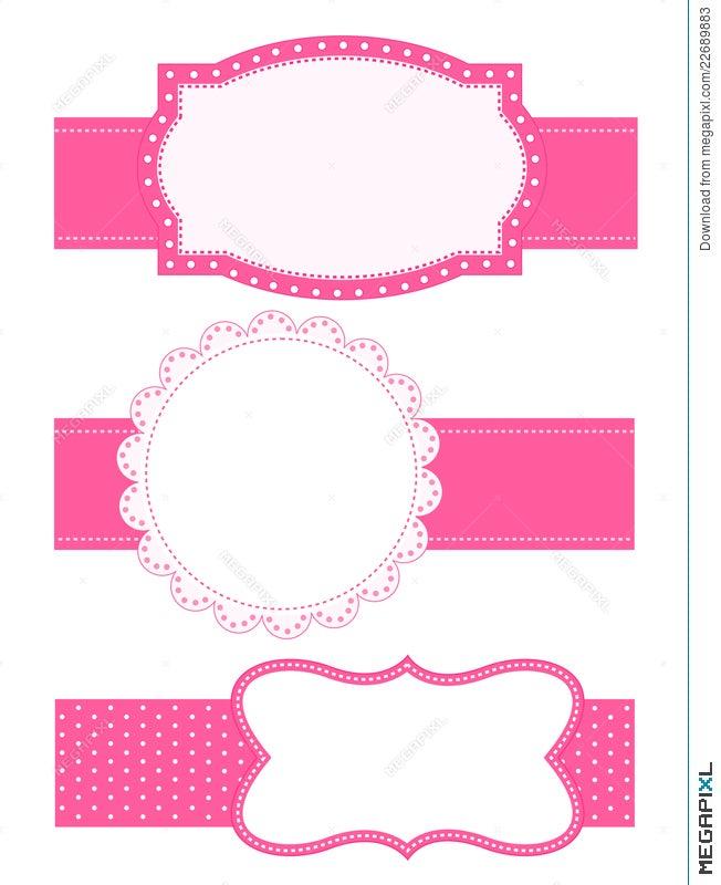 Polka Dot Background Frame Illustration 22689883 - Megapixl