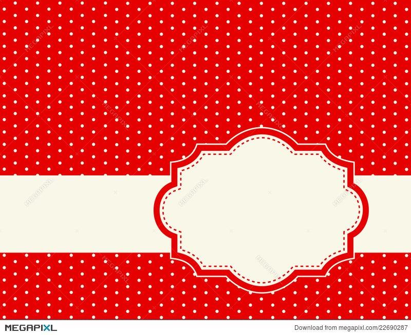 Polka Dot Background Frame Illustration 22690287 - Megapixl