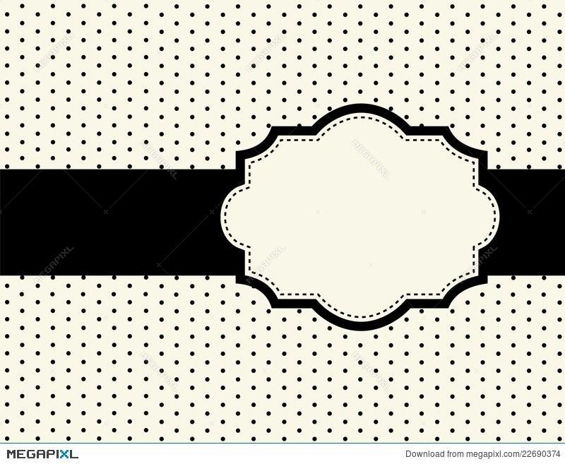 Polka Dot Design With Frame Illustration 22690374 - Megapixl
