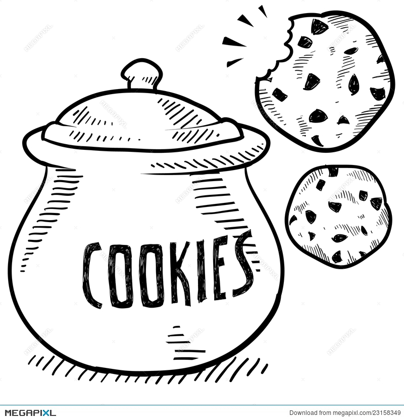 Cookie Jar Sketch Illustration 23158349