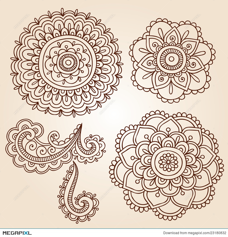 Flower Doodle Vector Free Flowers Healthy