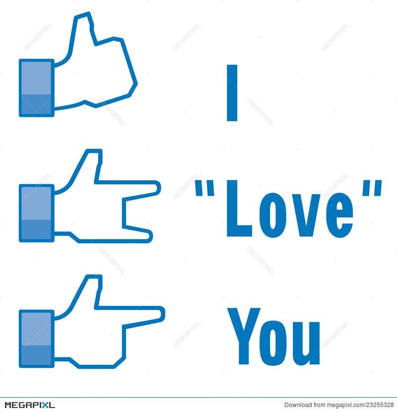 Symbol I Love You Illustration 23255328 Megapixl