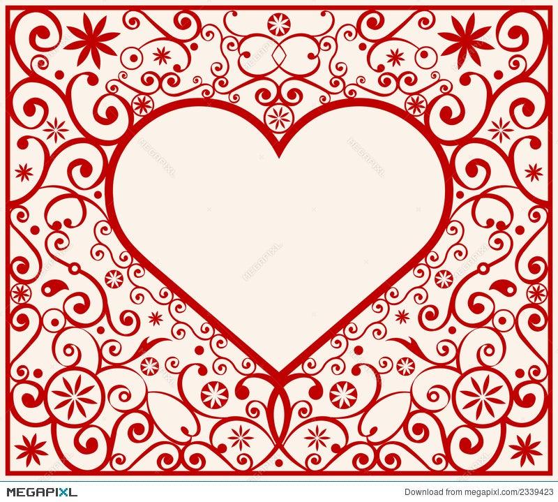 Pattern Heart Frame Illustration 2339423 - Megapixl